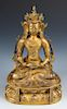 Antique Sino-Tibetan Gilt Bronze Buddha