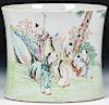 Republic Period Chinese Famille Rose Porcelain Brush Pot
