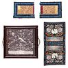 3 Antique Chinese Silk Embroideries