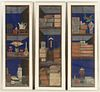 Set of 3 Antique Asian Paintings in Frames