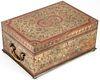 Antique Brass Inlay Jewelry Box