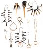 Lot of 12 objects of adornment, Papau New Guinea