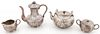 4 pc Sanborn Silver Coffee and Tea Set