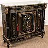 Antique French Louis-Phillipe Ebonized Cabinet