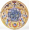 Antique Maiolica Earthenware Charger