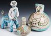 Guido Gambone (1909-1969) 3 Glazed Earthenware Works