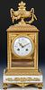 Louis XVI Style Gilt Mantle Clock