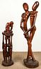 2 Mid Century Modern African Hardwood Sculptures
