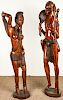 Life Size Sculptures of Masai Couple, East Africa