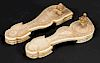 Pair of Extensively Carved Antique Paduka Slippers, India