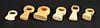 6 Assorted Antique Dinka Rings, Sudan
