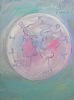 """March of Dimes"" Original Painting by Peter Max in 1988"