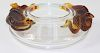 Lalique France Molded & Frosted Glass Serpent Bowl