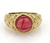 Bvlgari 5ct Pink Tourmaline 18k Yellow Gold Ring