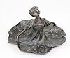 Art Nouveau Bronze Figural Ring Tray