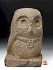 Rare Mayan Stone Owl w/ Amulet - Von Winning Papered