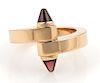 Cartier Menotte Garnet Rhodolite 18k Gold Ring