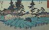 19th C. Framed Hiroshige Japanese Wood Block Print