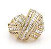 Charles Krypell Diamond X Crossover 18k Gold Ring