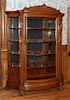 Lion Head Curved Oak China Cabinet Probably R J Horner