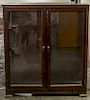 A Pair of Mahogany Bookcases Height 52 x width 46 1/2 x depth 14 inches.