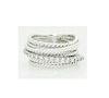 David Yurman 925 Sterling Silver Crossover Diamond Ring