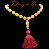 Tiffany & Co 18k Orange Agate Beaded Tassel Necklace