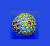 18k Gold 13.50 Carats TCW Amethyst Blue Topaz Dome Ring