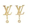 LOUIS VUITTON IDYLLE BLOSSOM LV EARRINGS, YELLOW GOLD AND DIAMOND