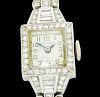 Hamilton Antique Platinum 1.00 Ct Diamond Watch 14k