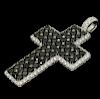De Grisogono 18k White Gold Black & White Diamond Cross