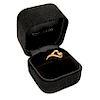 TIFFANY & CO 18K Rose Gold Elsa Peretti Small Open Heart Ring Size 4.5