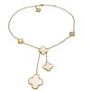 Van Cleef & Arpels Magic Alhambra 18k Yellow Gold 6 MotIff Necklace