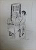 ILLEGIBLY Signed. Lithograph. Woman and Child.
