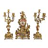 Napoleon III figural clock garniture