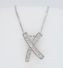 Diamond X Pendant Necklace