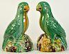 Pr. Glazed Porcelain Bird Figurines