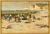 """Attributed to Ridgeway Knight, """"By the Sea"""" W/C/P"""