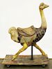 early 20th c Ostrich wooden carousel figure