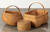 """Three assorted baskets, largest - 14"""" h., 17"""" w."""