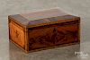 Tiger maple veneer dresser box