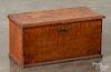 Pennsylvania tiger maple lock box, 19th c.