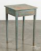 Painted pine end table, 19th c.