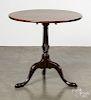 Queen Anne mahogany tea table, mid 18th c.