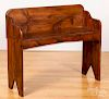 "Pine bench, ca. 1900, 34"" h., 39 1/2"" w."