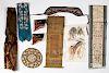 Chinese silkwork sashes, shoes, etc.