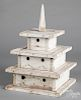 Painted pine birdhouse, early/mid 20th c.