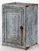 "Tin hanging cabinet, ca. 1900, 20"" h., 13 1/4"" w."