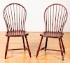 Four bowback Windsor chairs, early 19th c.