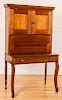 Walnut plantation desk, mid 19th c.